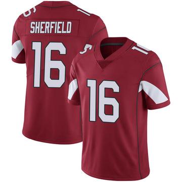 Youth Nike Arizona Cardinals Trent Sherfield Cardinal 100th Vapor Jersey - Limited