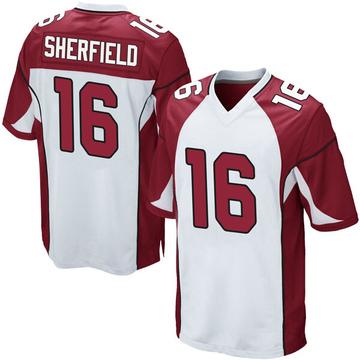 Youth Nike Arizona Cardinals Trent Sherfield White Jersey - Game