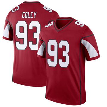 Youth Nike Arizona Cardinals Trevon Coley Cardinal Jersey - Legend
