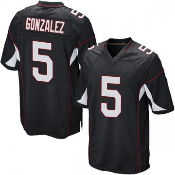 Youth Nike Arizona Cardinals Zane Gonzalez Black Alternate Jersey - Game