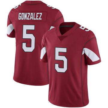 Youth Nike Arizona Cardinals Zane Gonzalez Cardinal 100th Vapor Jersey - Limited