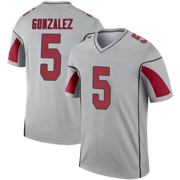 Youth Nike Arizona Cardinals Zane Gonzalez Inverted Silver Jersey - Legend