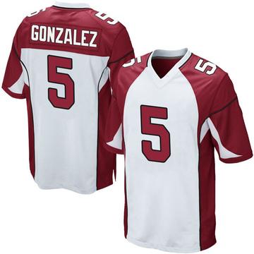 Youth Nike Arizona Cardinals Zane Gonzalez White Jersey - Game