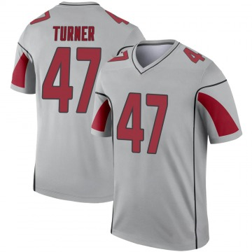 Youth Nike Arizona Cardinals Zeke Turner Inverted Silver Jersey - Legend